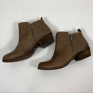 Lucky Brand Basel brown booties